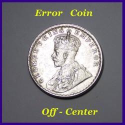 Error 1913 One Rupee George V British India Silver Coin