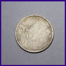 Set Of 3 Victoria Empress British India Silver Coins