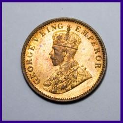 1935 UNC Calcutta Mint One Quarter Anna George V King - British India