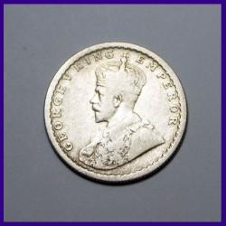 1926 Half Rupee George V British India Silver Coin