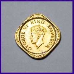 1943 Half (1/2) Anna British India George VI Coin