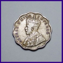 1934 One Anna Coin George V King, British India