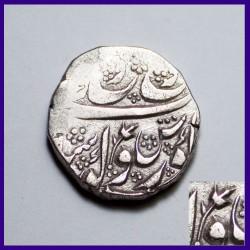 Sikh Kashmir Mint Gobind Shahi Couplet One Rupee Silver Coin
