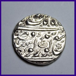 Sikh One Rupee Error In Date Silver Coin