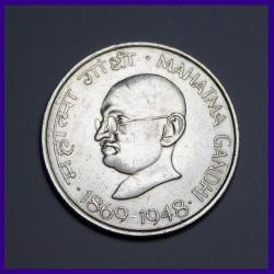 Calcutta Mint 10 Rupees Mahatma Gandhi Silver Coin