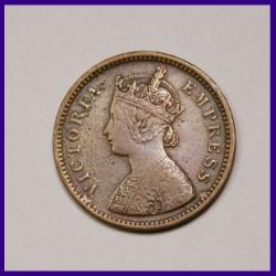 1889 Half Pice Victoria Empress British India Coin