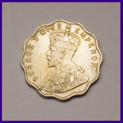1912 One Anna Coin George V King, British India