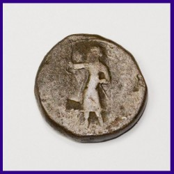 Ancient India Kushan Dynasty AE Tetradrachm Coin