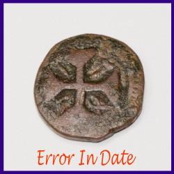 Error In Date Atia Portuguese Copper Coin