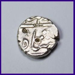 Shri Countermarked Half Rupee Silver Coin Mughal Coinage