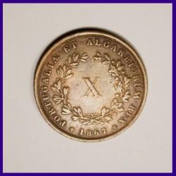 Portugal 1867 X Reis - Luiz I Copper Coin