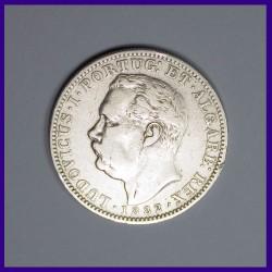 1882 Portuguese India, Luiz I (Ludwig), Silver Uma Rupia / Rupee, Goa
