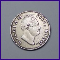 1835 William IIII Half Rupee Silver Coin, East India Company