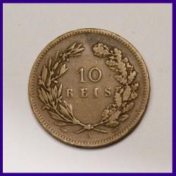 Portugal 1891 X Reis - Carlos I Bronze Coin