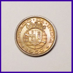 1959 Portuguese 10 Centavos Bronze Coin