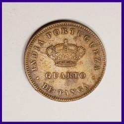 1886 Portuguese Quarto De Tanga - Ludovicus I