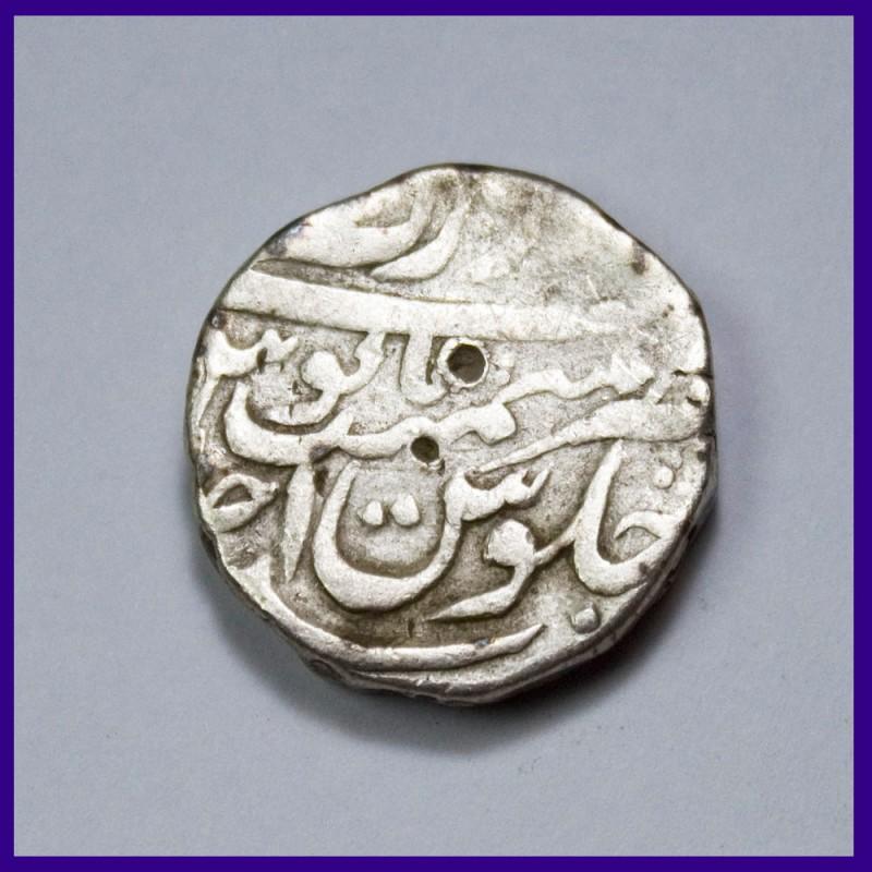 Aurangzeb Bandar e Mubarak Surat Mint One Rupee Silver Coin