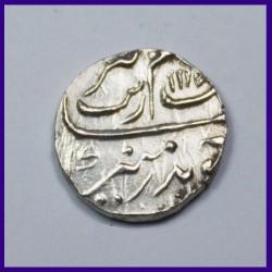 Aurangzeb Half Re Surat Mint Silver Coin